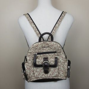 Longaberger floral small backpack